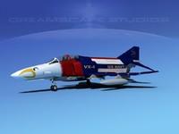 mcdonnell douglas f-4 phantom 3d max
