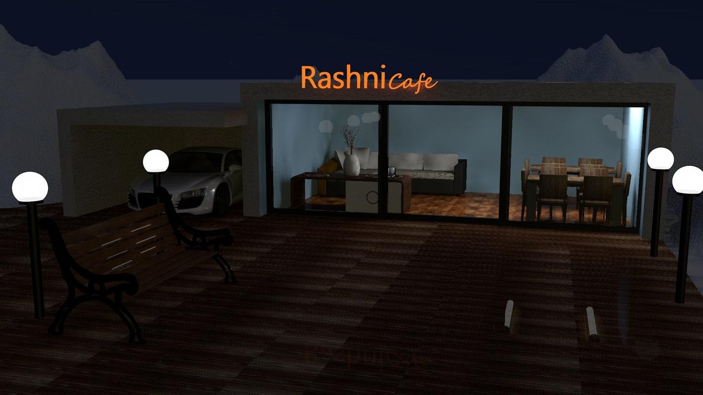 cafe house 3d c4d