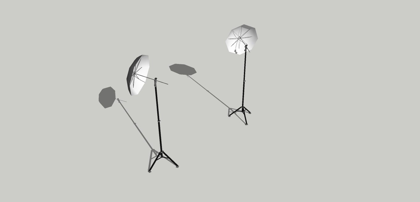 3d paraguas fotografa cine model