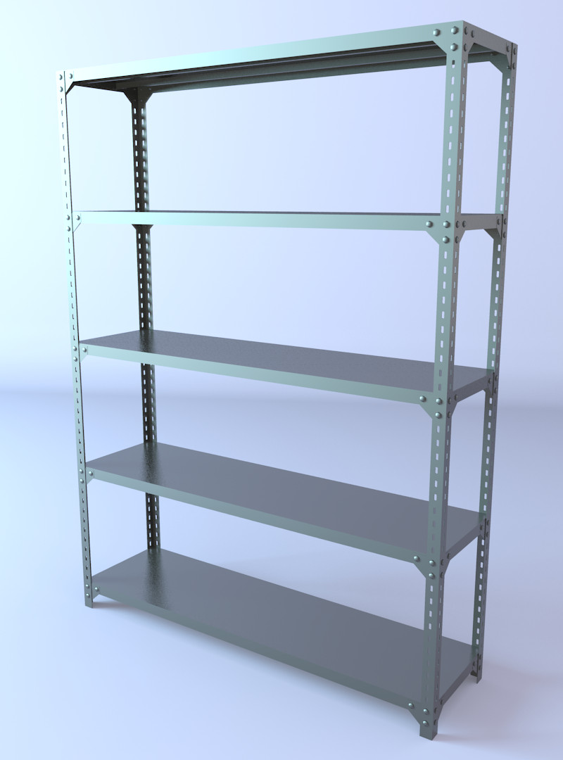 3d model of shelving storage