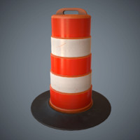 Large Traffic Cone Game Ready Low-Poly PBR