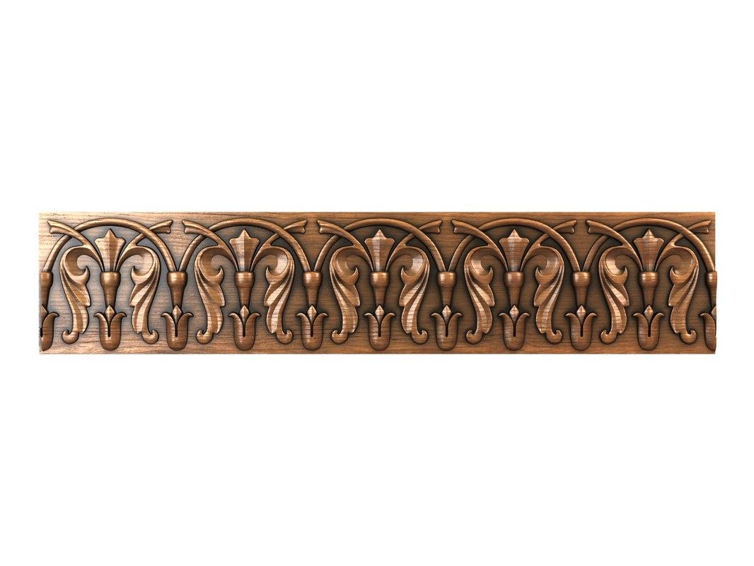 decorative molding 3d obj