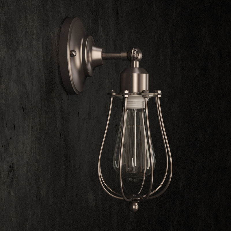 3d model of wall lamp filament cage