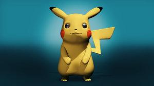 3d model pikachu