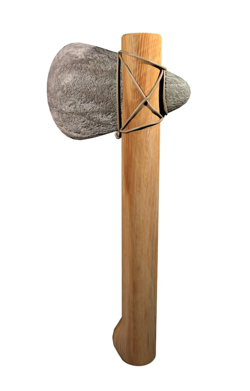 3d stone axe