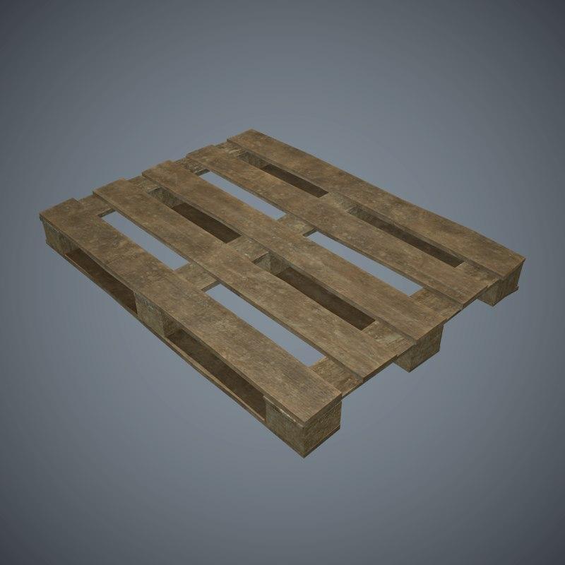 3d model of wooden pallet pbr games