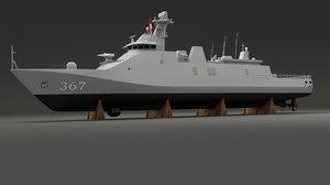 frigate sigma 3d model