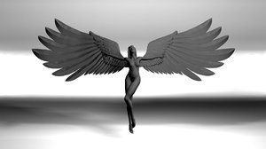 3d girl angel