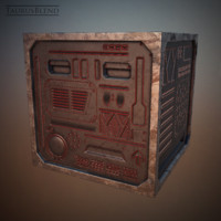 futuristic steel crate 3d model