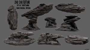 3d obj mountain rock