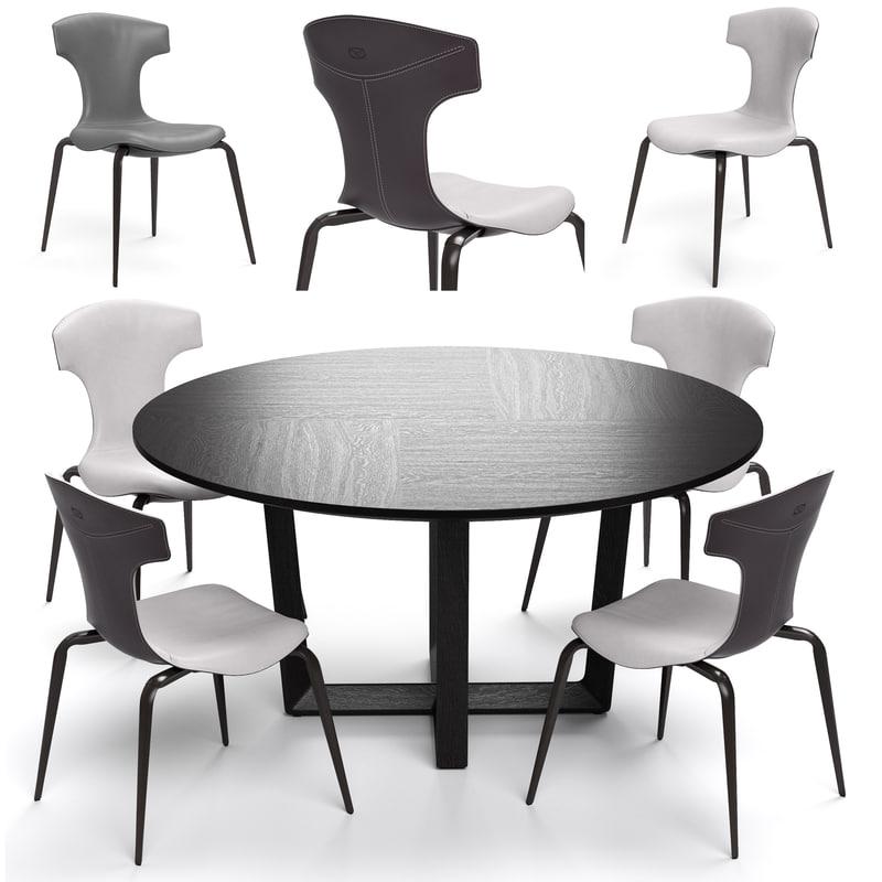 3d poltrona frau montera stool