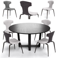 Poltrona Frau Montera Stool and Bolero round table