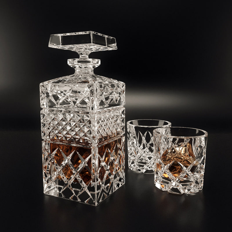 3d set decanter bohemia model