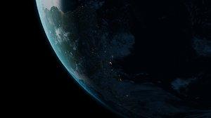 earth atmosphere 3d model