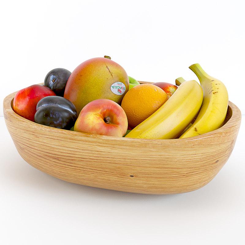 ethnic fruit bowl 3d max