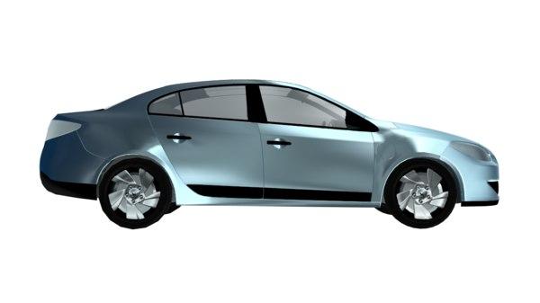 3d renault car