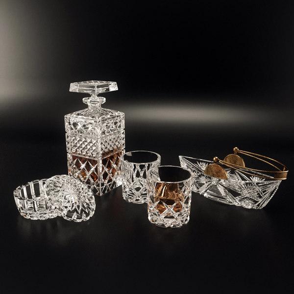 3d model set tableware bohemia