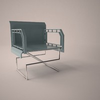 modern chair 3d 3ds