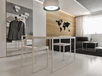 3d model minimalistic flat interior