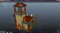 barrack tower defense 3d obj