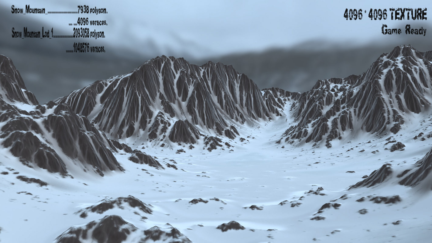 snow mountain 1 3d model