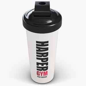 3d model sport water bottle