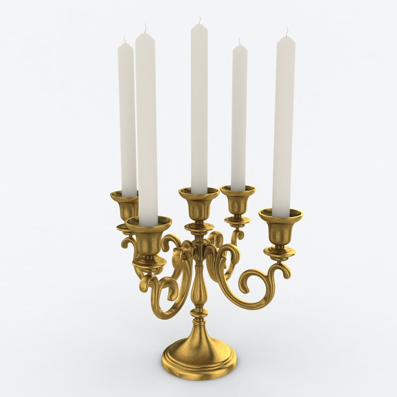 candle candelabrum 3d model