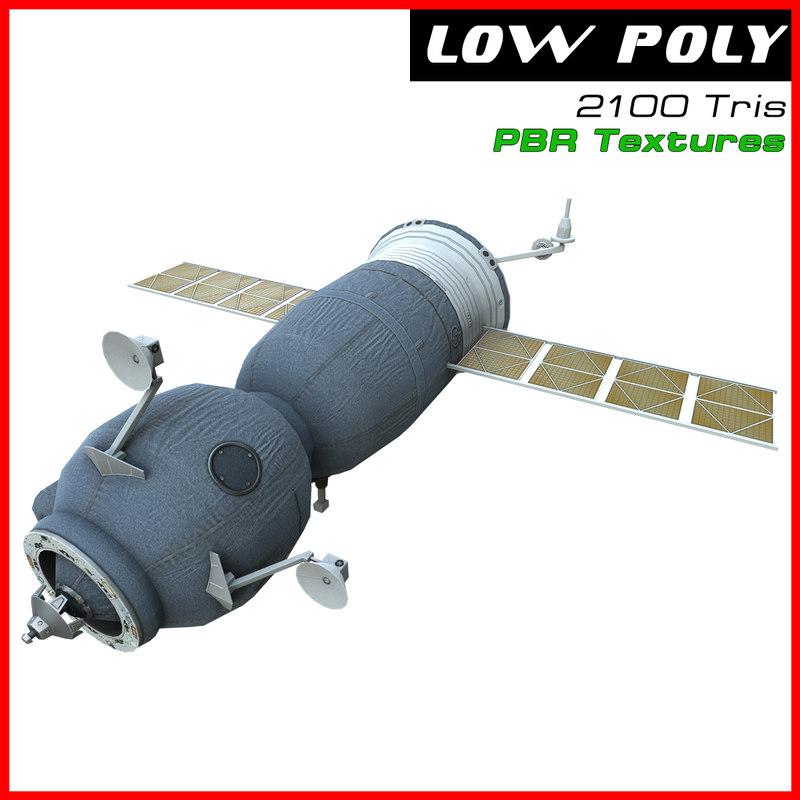 3d soyuz space station model