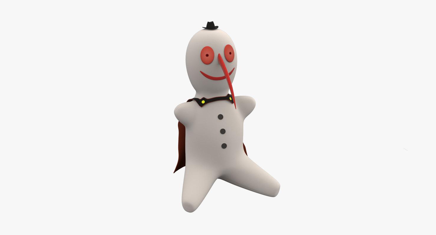3d snowman christmas halloween