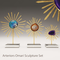 arteriors omari sculpture 3d model
