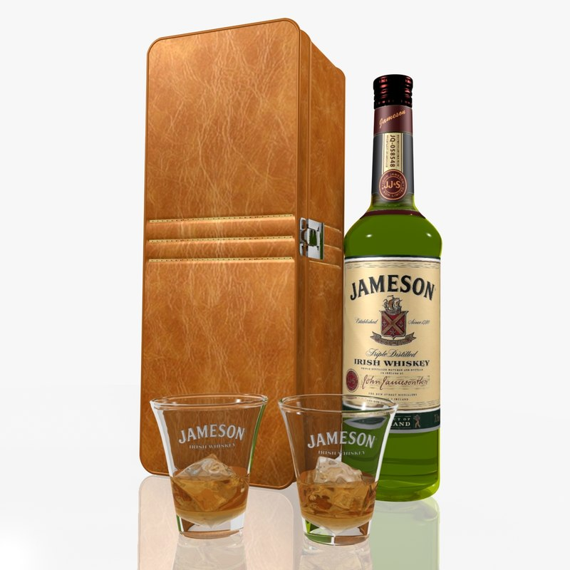 3d jameson whiskey set model