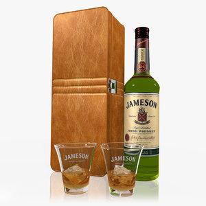 3d jameson whiskey set model