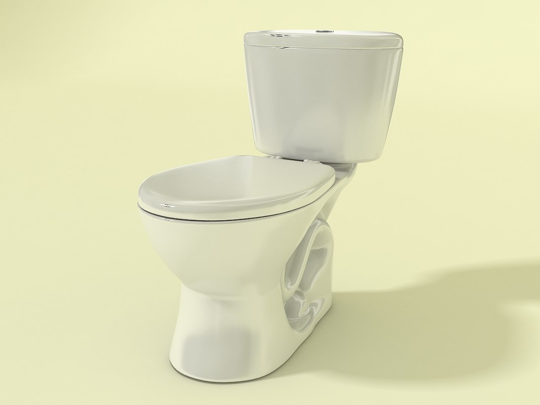 3d model toilet ganamax