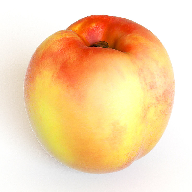 3d model peach fruit
