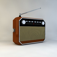 low poly retro radio (game ready)