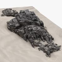 3d rock scan 21 model