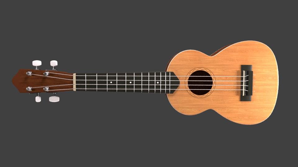 3d ukulele model