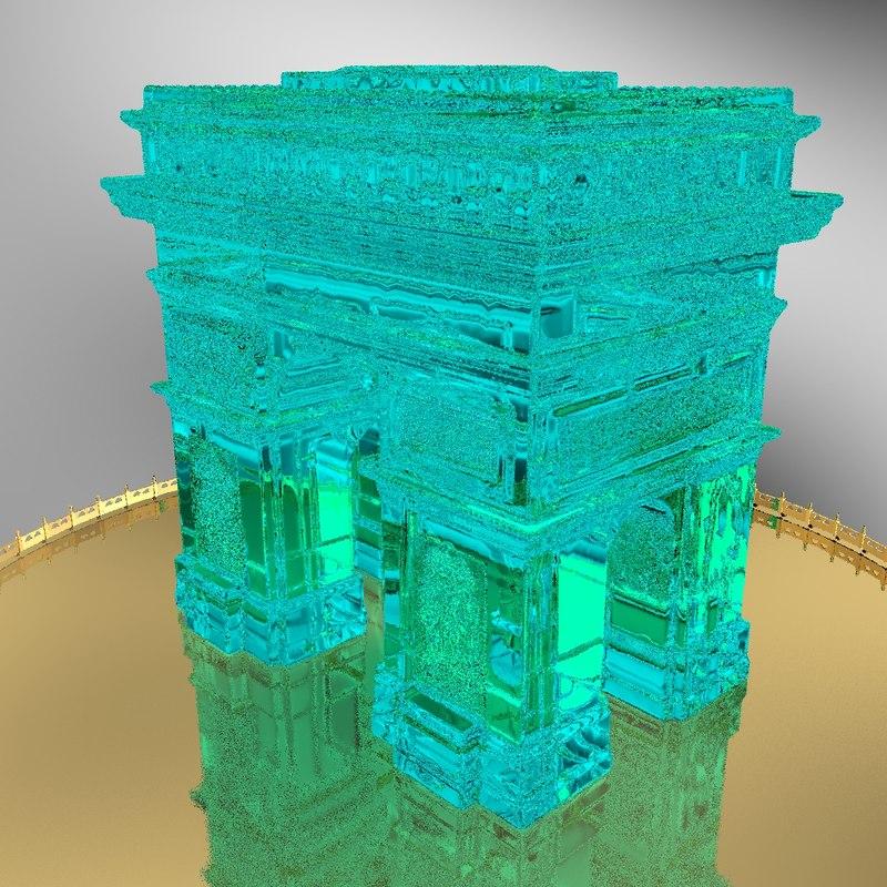 3d model arc triomphe