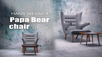 3d papa bear chair