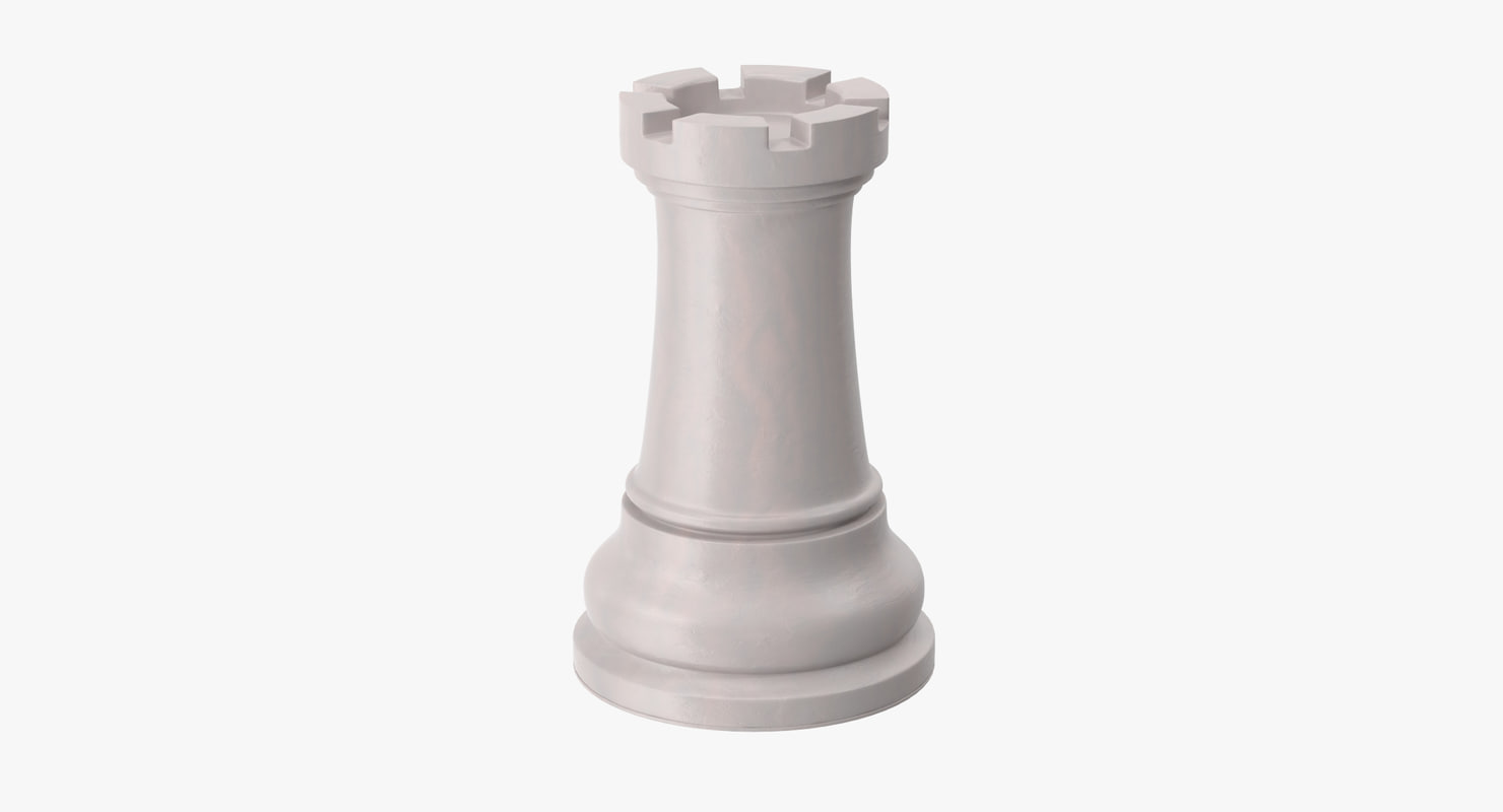 Chess Pieces - Rook White