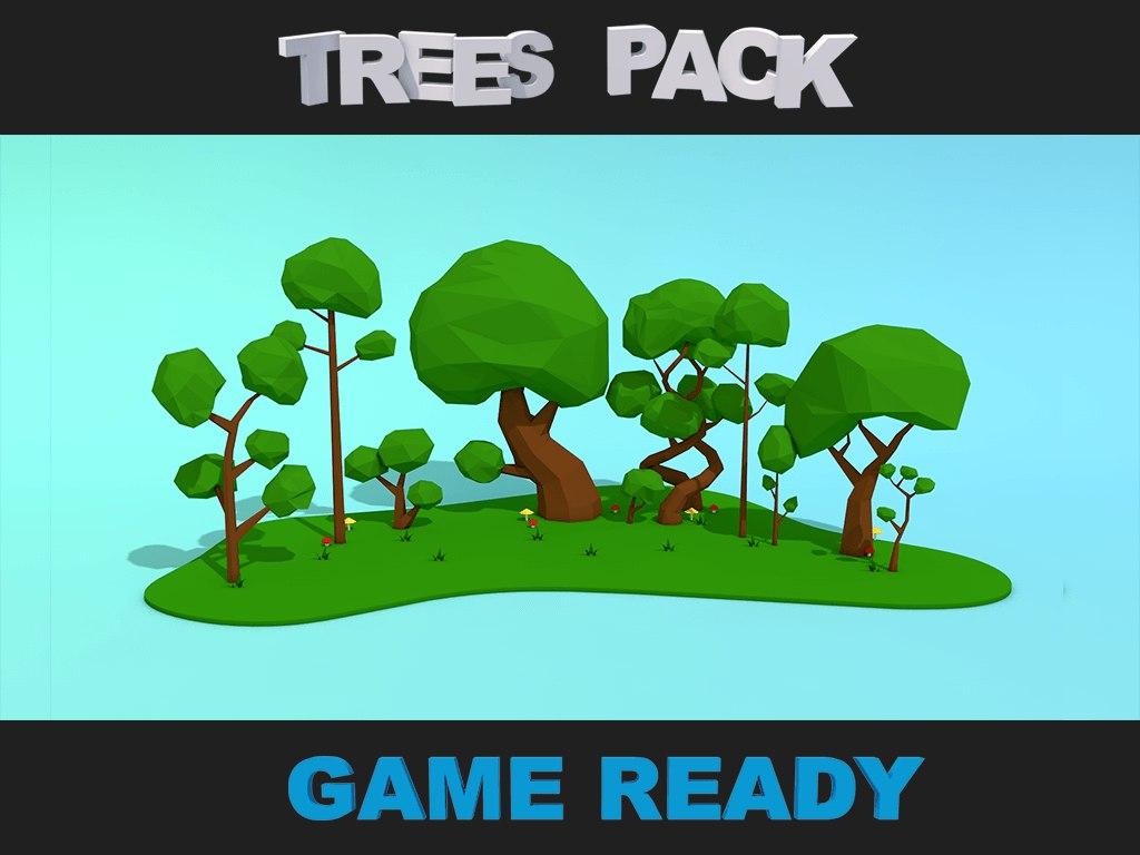 trees pack 3d c4d