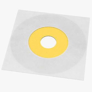 3d model vinyl lp paper sleeve