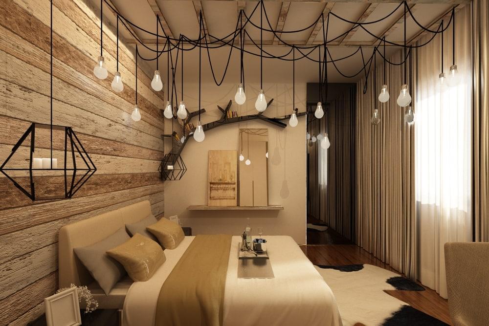 3d model industrial bedroom