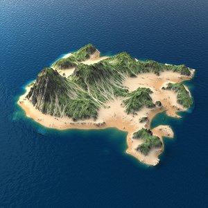 3d tropical island terrain 9