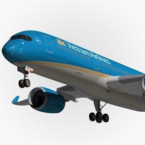 3d airbus vietnam airlines
