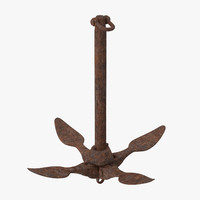 boat anchor 02 3d model