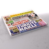 3d hurriyet newspaper folds model