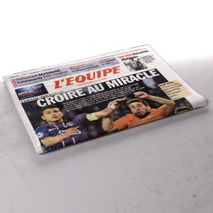 3d model l equipe newspaper folds