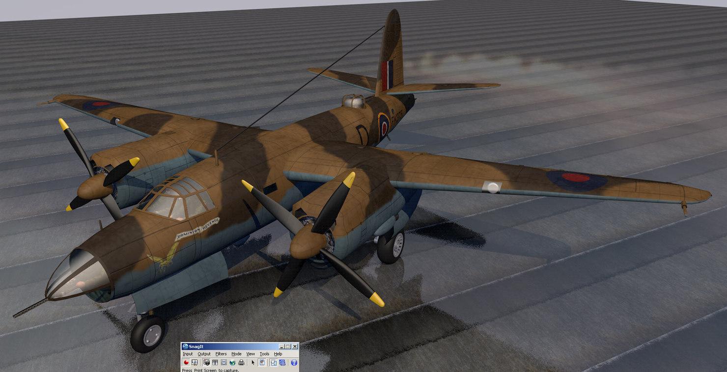 martin marauder mk-1a raf 3d model