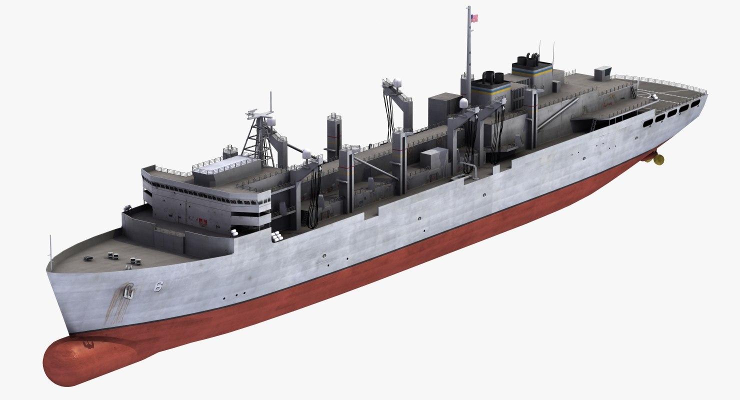 usns supply t-aoe-6 3d model